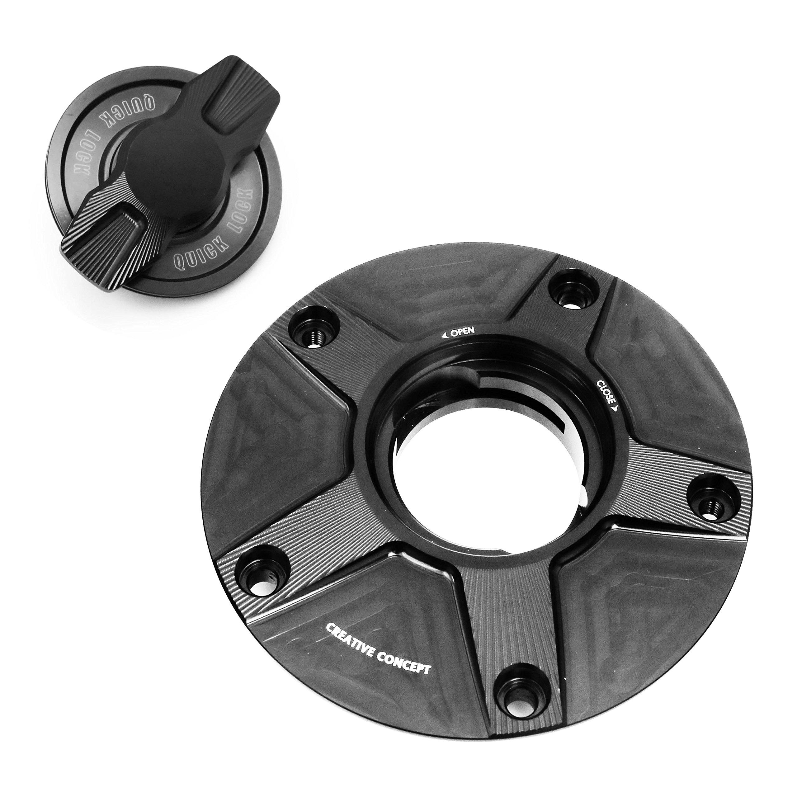 NIMBLE Black CNC 1/4 Quick Lock Fuel Cap For Yamaha MT-01/XJR 1200/XJR 1300 SP All Year
