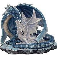 monde féerique Statuina Drago e Il Suo Bebe–Statuette Drago (HT 13,5x 17,5cm)