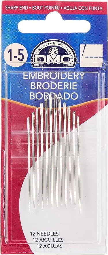 5-10 DMC Embroidery Needles Sizes 1-5 3-9
