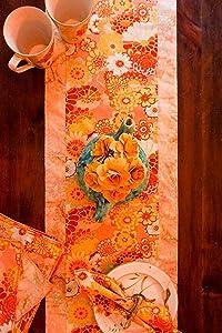 Summer Table Runner-Flower Table Runner-Boho Table Runner-Shabby Chic Table-Yellow Table Runner-Tablescapes-Table Settings-Table Decor-Party Decor-Cottage Decor-Home Decor Gift