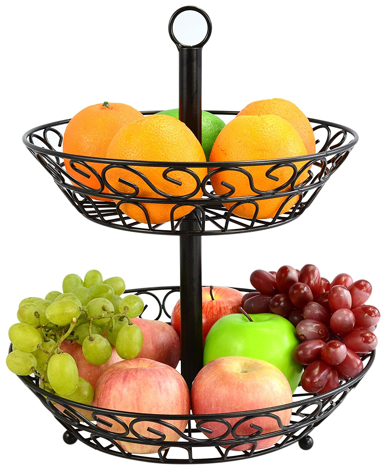 Amazon.com: Surpahs 2 Tier Countertop Fruit Basket Stand: Kitchen U0026 Dining