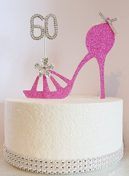 Magnificent 60Th Hot Pink Birthday Cake Decoration Shoe Design With Diamante Funny Birthday Cards Online Overcheapnameinfo