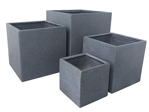 Premium Pflanzkübel Set - Lounge Cube von 7EVEN | Blumentopf eckig ...
