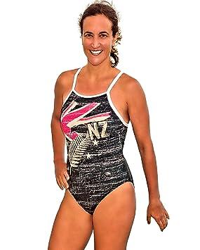 Turbo Bañador New Zealand (Relax de modelo) Mujer Sport Bañador con bajo banda de