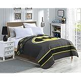 "Quilted Bedspreads All-Season Reversible Blanket - Batman Emblem - Queen Bed 86""x 86"""