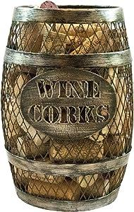 TheopWine Barrel Shaped Wine Cork Holder (Large)