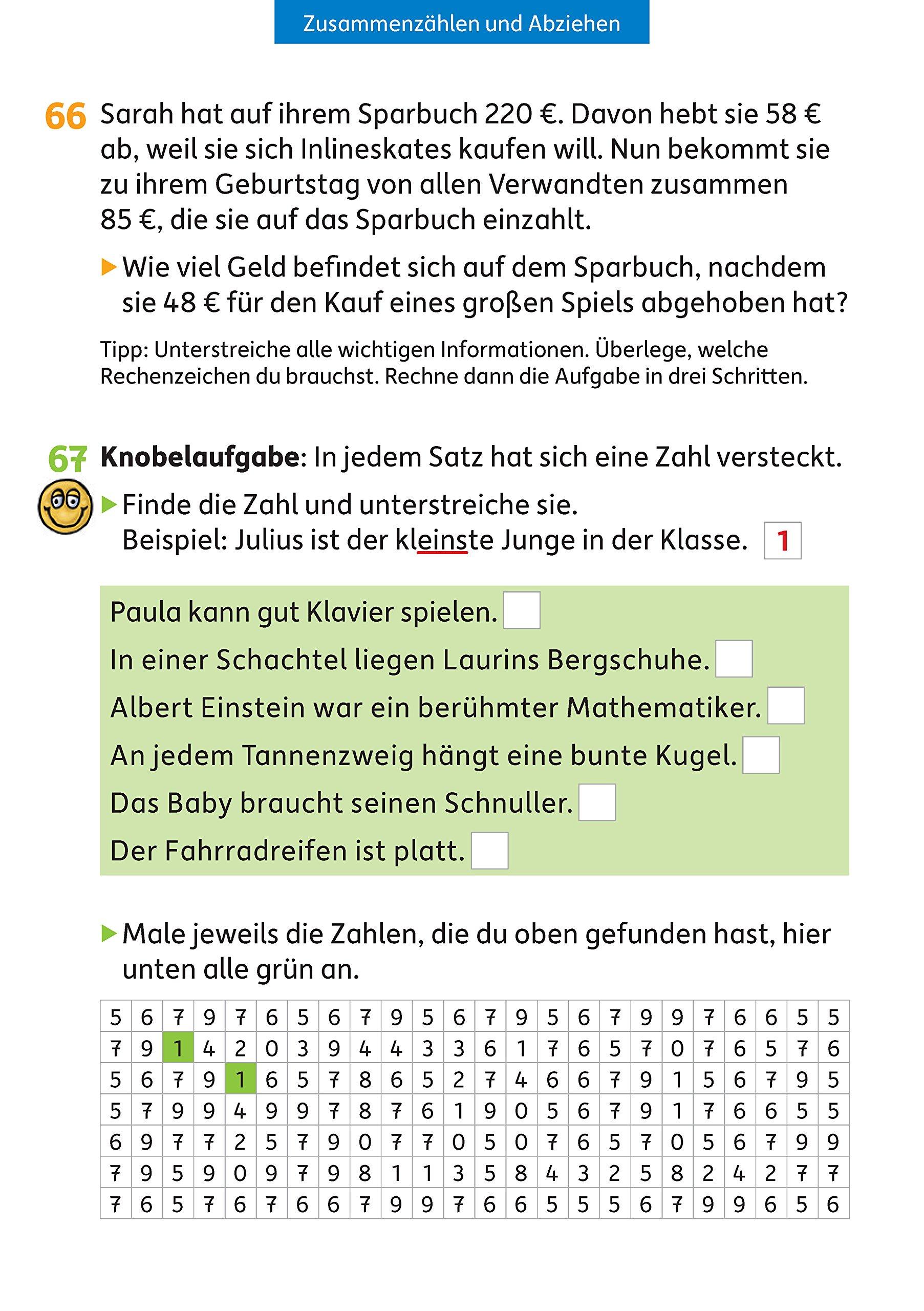 Wunderbar Mathe Praxis Einer Tabelle 1Klasse Zeitgenössisch - Mathe ...