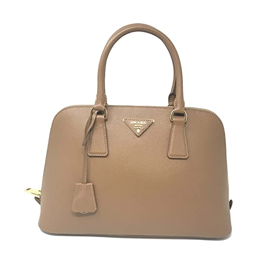 786c5e8b852b Prada 1BA837 Saffiano Leather Caramel Promenade Ladies Top-handle Bag   Amazon.co.uk  Clothing