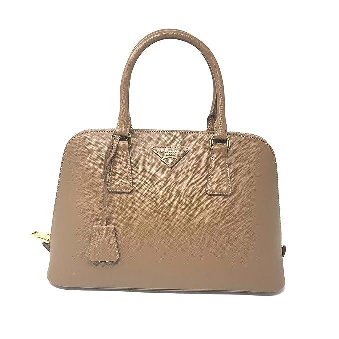 Prada borsa a mano da donna in pelle saffiano 1BA837 Caramel Promenade   Amazon.it  Abbigliamento c876e6338e6