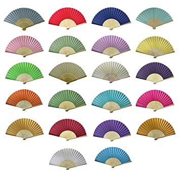 Holzfächer Handfächer Fächer 10 Farben zur Auswahl