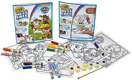 Amazon Com Color Wonder Paw Patrol Color Kit Mess Free Color