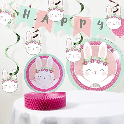 Amazon.com: Bunny Party Kit de decoración de cumpleaños ...