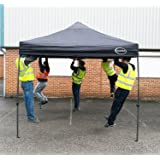MAXIMUS® HEAVY DUTY GAZEBO 3m x 3m HIGH QUALITY GAZEBO MARKET STALL POP UP TENT (NS) [Blue*Black*Green*Beige] (Black)