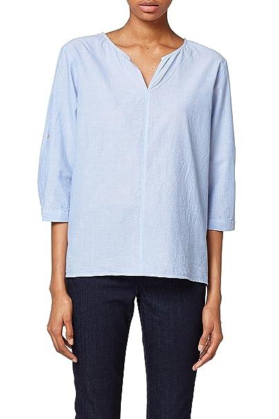 Esprit 028ee1f012, Blusa para Mujer, Azul (Light Blue 440), 42 (