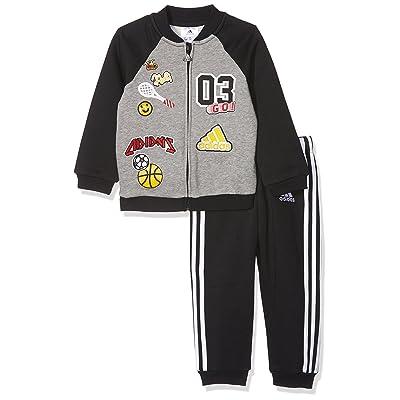 adidas Boys Toddler Fun Fleece Full Zip Jogger Set Pants Sport Kids
