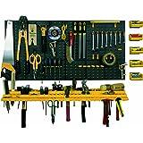 ArtPlast Panneau à outils perforé trous type serrure avec crochets/consoles/et boîtes à accès facile