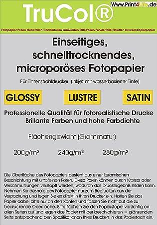 200 hojas QuickDry SATÉN papel fotográfico Premium 240g / m² A4 9600 ppp. Secado rápido, papel fotográfico poroso micro. Que se comercializa entre ...