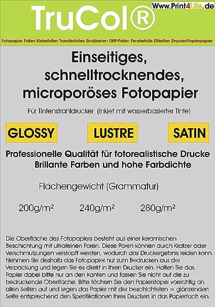50 hojas de 250g / m² láser color A4. Papel brillante, de doble ...