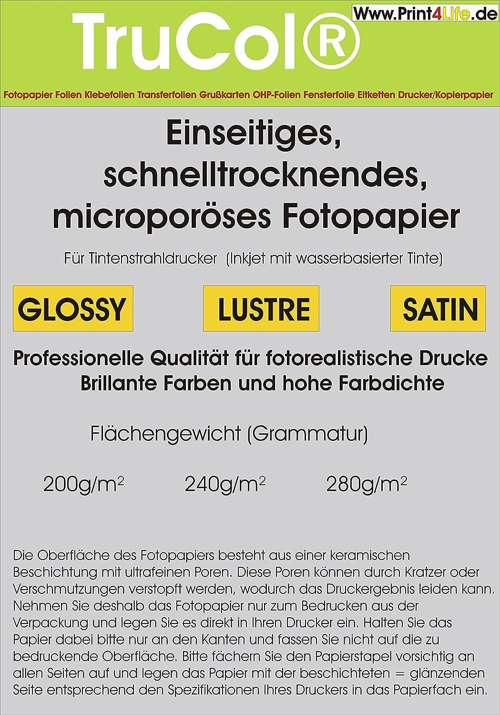 200 Blatt Quickdry Satin Premium Fotopapier 280g 280g 280g  m² DIN A4 9600dpi. Schnelltrocknendes, microporöses Fotopapier. Welches unter anderem durch einen großen Deutschen Discounter Grünrieben Wird. B00AC0R0WY | New Product 2019  3e890c