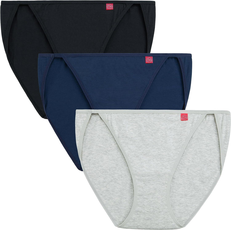 INNERSY Women String Bikini Panties Low Rise Cut Cotton Underwear Briefs