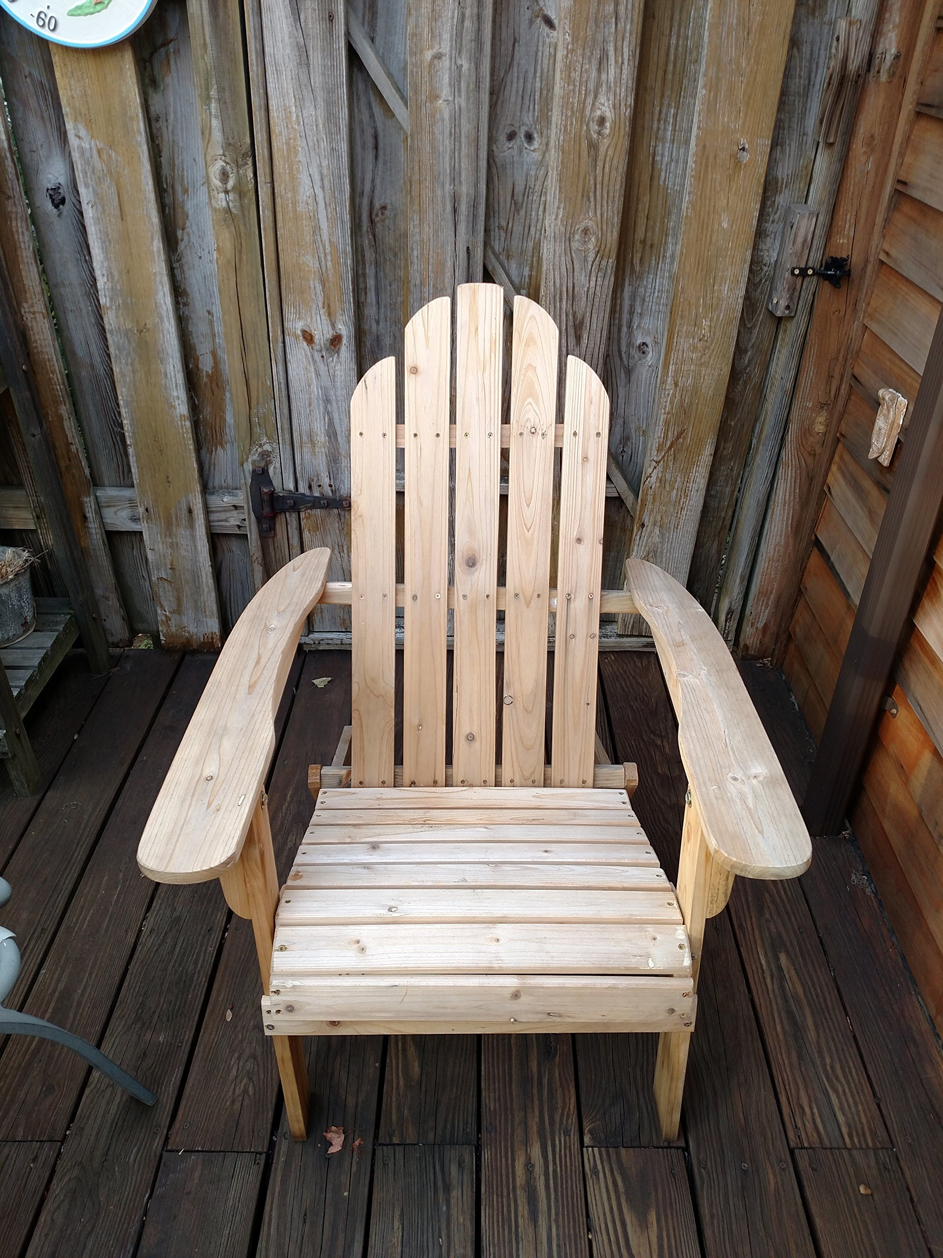 Cedar Adirondack Folding Outdoor Chair Wood Folds