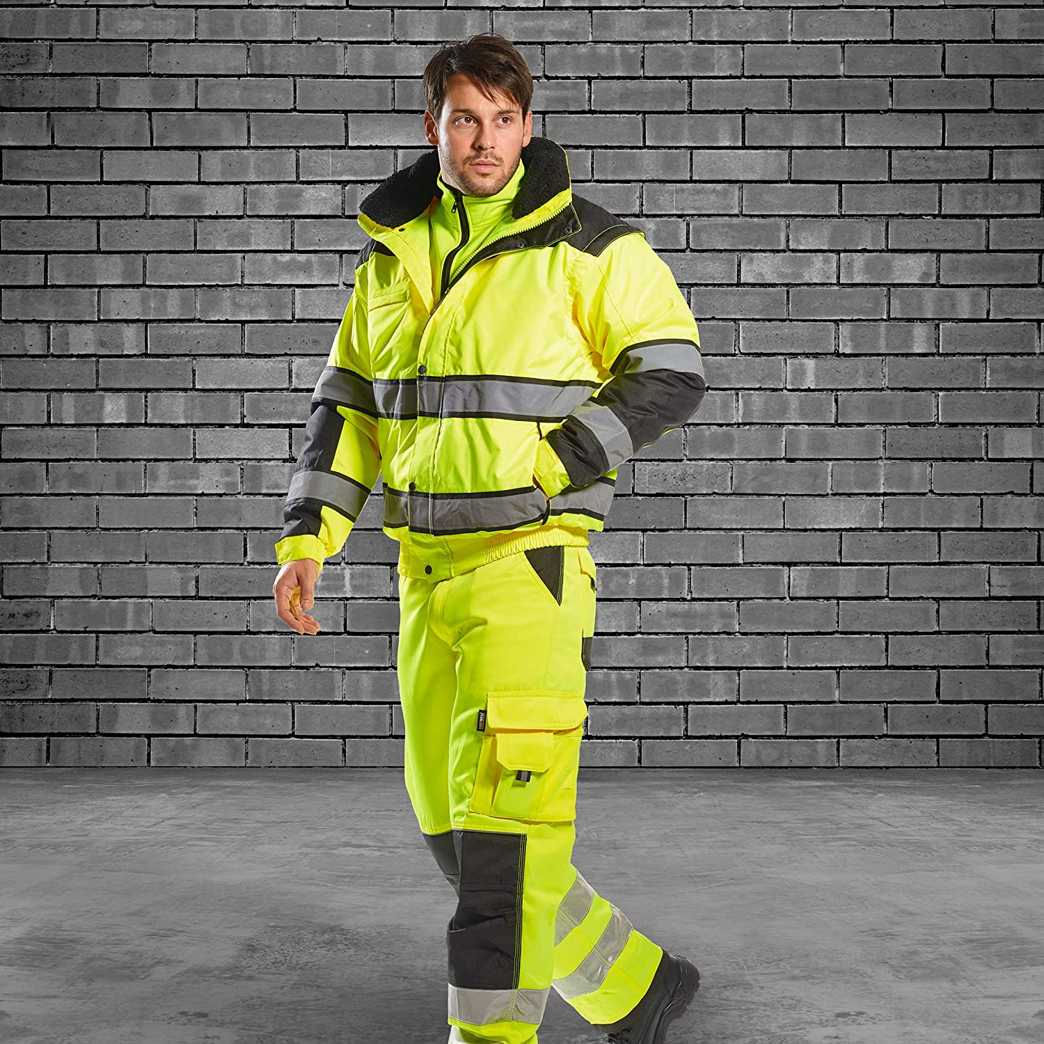 UC466 Hi-Vis Classic Bomber Jacket High Visibility Workwear Portwest