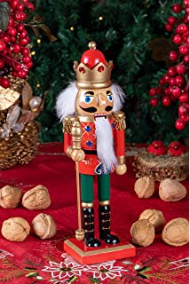 56853f624 Clever Creations Christmas King Nutcracker | Red, Green, and Gold Uniform  with Scepter