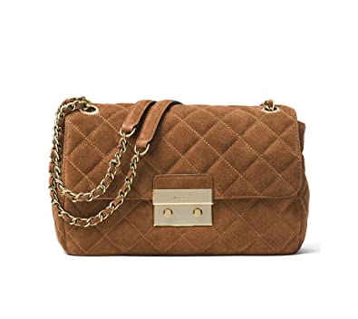 0126e3a7346c Michael Michael Kors Sloan Large Suede Shoulder Bag, Dark Caramel: Handbags:  Amazon.com