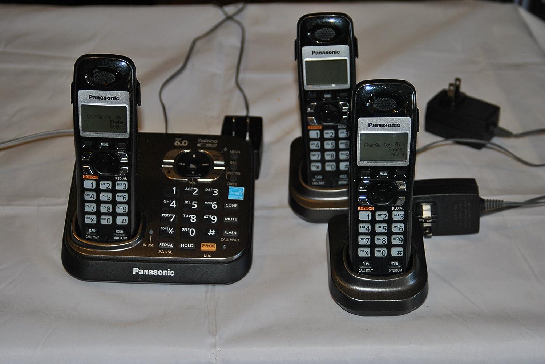 Panasonic kx-tg9341t Digital teléfono inalámbrico con sistema de respuesta con (3) terminales: Amazon.es: Electrónica