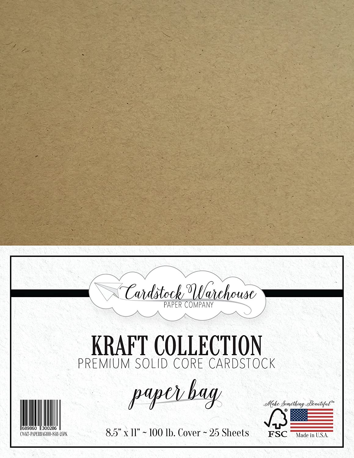 PAPER BAG KRAFT Recycled Cardstock from Cardstock Warehouse - 8.5