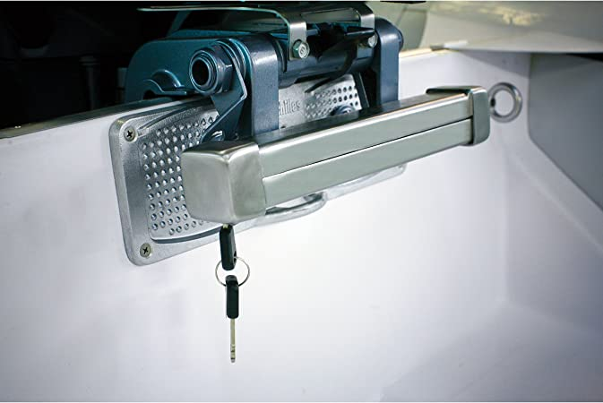 Cut Resistant Carbon Steel Panther Marine Boat Out//Board Motor Lock Anti-theft