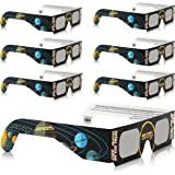 Solar Eclipse Glasses - CE and ISO Certified Safe Shades for Direct Sun Viewing - Viewer & Filter - Made in USA (6 Pack) - Jupiter