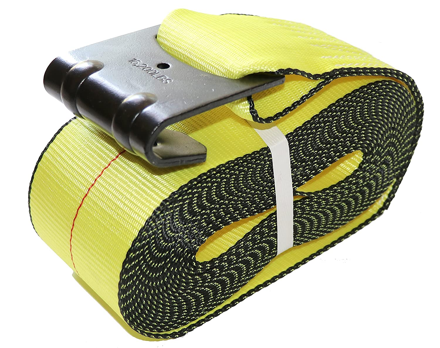 4' x 30' DKG Cargo Winch Strap with Flat Hook - Ideal Flatbed Truck Tie Down (1 Pack) DK Global