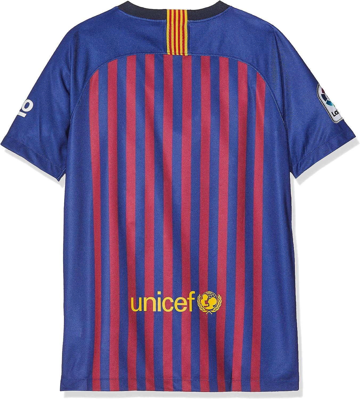 Nike FCB Camiseta 1ª Equipación Temporada 2017-2018, Línea FC Barcelona, Niños: Amazon.es: Ropa y accesorios