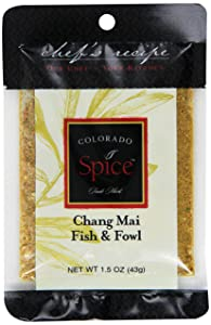 Colorado Spice Company, Seafood Spice, Chang Mai Fish & Fowl, 1.5-Ounce Packet (Pack of 12)