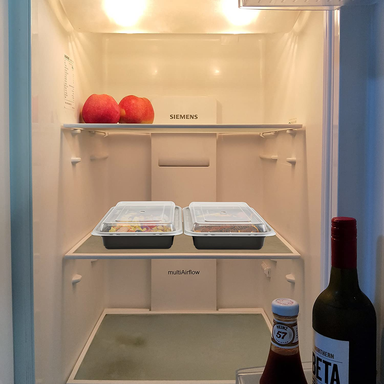 Amazon.com: Compartimento único comida Prep recipientes con ...