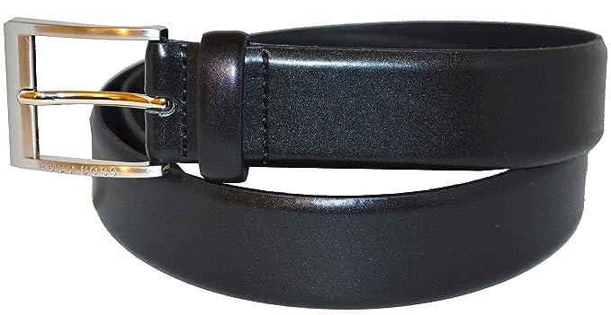 918eb2d3f213 BOSS Hugo pour homme Almos 50129169 de ceinture en cuir Noir - Noir - 40W