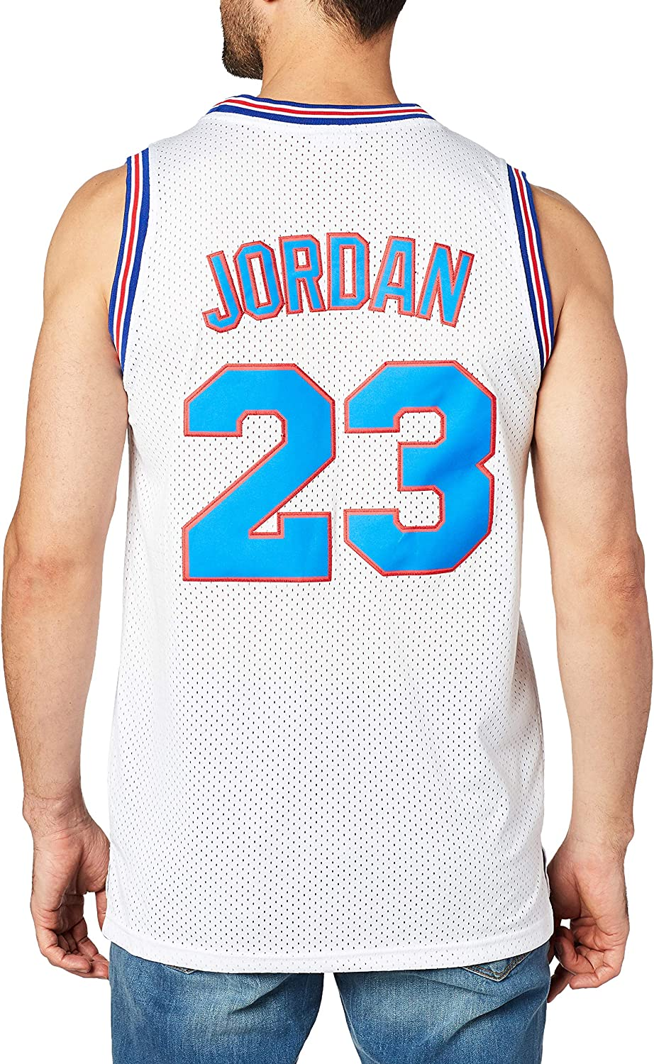 Men Sports Fitness Weletion 23 Space Moive Jersey Mens Basketball Jersey White Newsmada Com