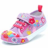 Canvas Sneakers Shoes for Toddler Girls Infant Baby Velcro Strap Soft Comfortable Easy Walk Colorful Flower
