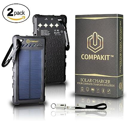 Amazon.com: Cargador de batería solar por compakit | Paquete ...