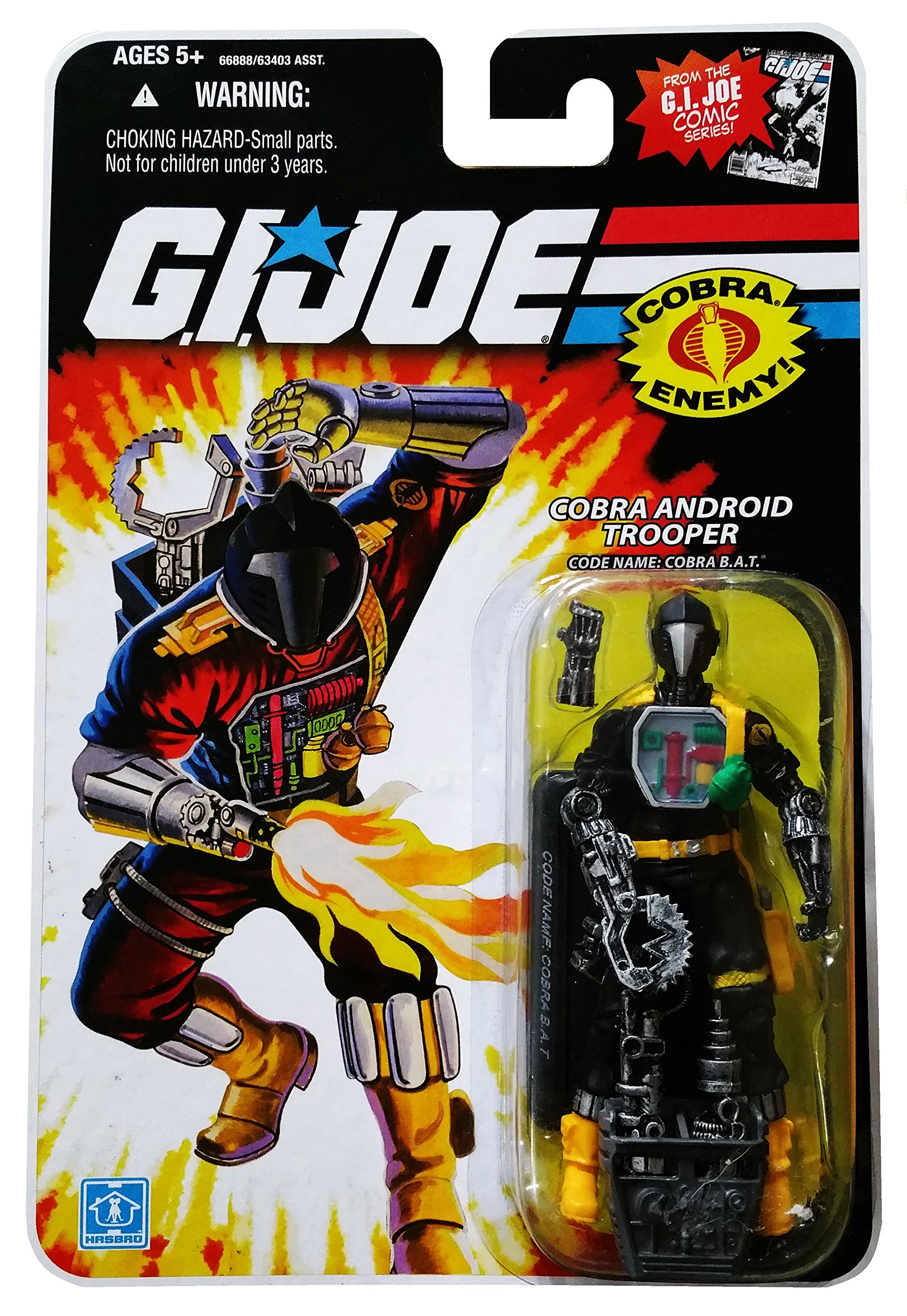 G.I. Joe 25th Anniversary Comic Series Cardback: Cobra B.A.T. (Battle Android Trooper) 3.75 Inch Action Figure