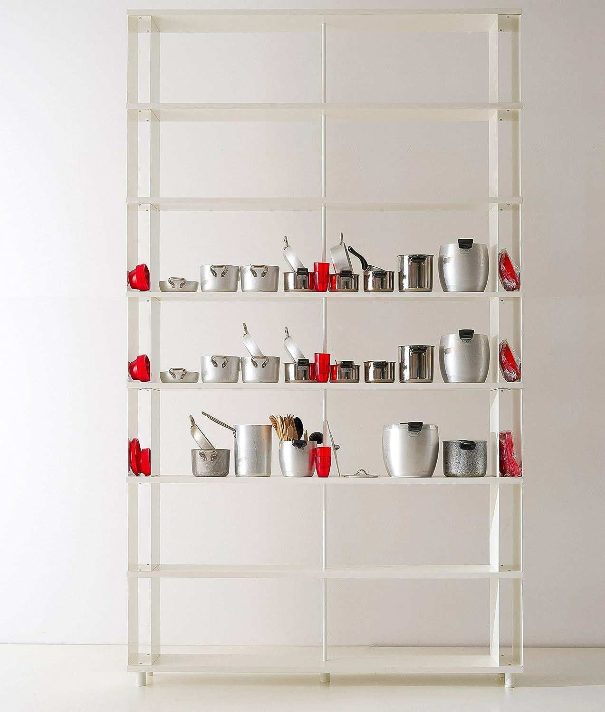 Bücherregale SKAFFA Italienische Design weisse Regale von cm. 150 x 292 h x 30