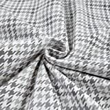 Robert Kaufman Cozy Cotton Flannel Houndstooth Grey Fabric By The Yard