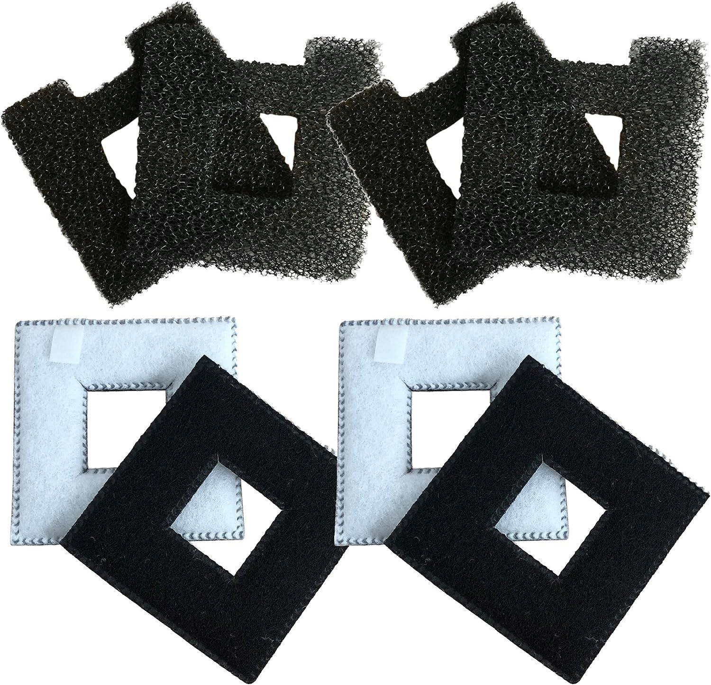Finest-Filters - 4 filtros compatibles con cartuchos de filtro Fluval Chi y 4 almohadillas de espuma para acuario