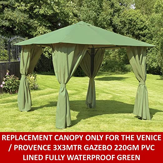 Gazebo toldo de repuesto para Provence/Venecia 3 x 3 mtr Gazebo en ...