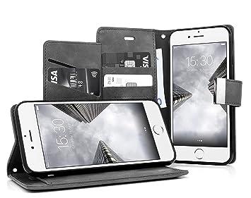 MyGadget Funda Flip Cierre Magnético para Apple iPhone 7/8 Cuero ...
