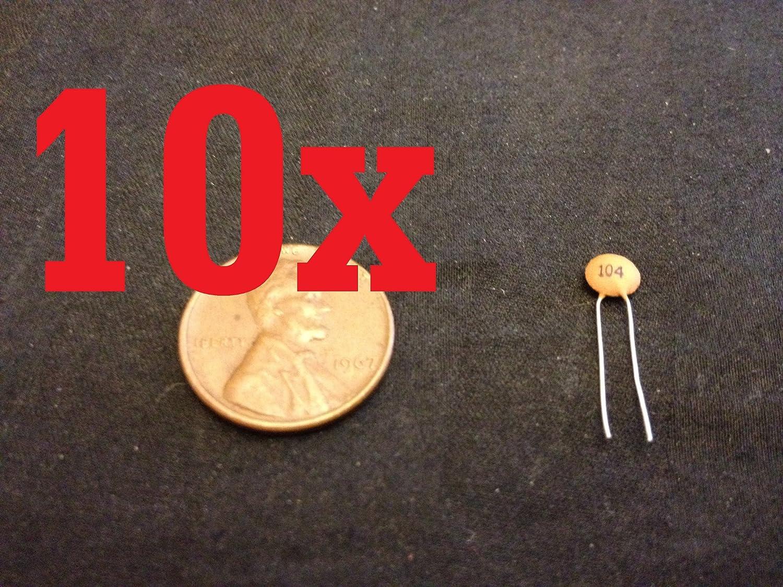 1NF 1000PF 100V RADIAL CERAMIC DISC CAPACITOR VAGE QTY:5