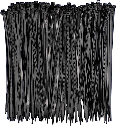 "100 Pc Bag Clear Nylon 36/"" Cable Zip Ties Self Locking Head UV Heat Crafts Home"
