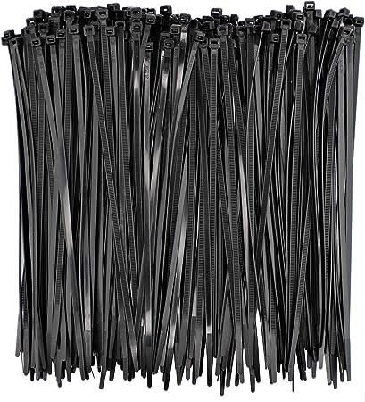 200 X Câble Noir Cravates Tie Wraps Zip Ties Strong-Extra Long