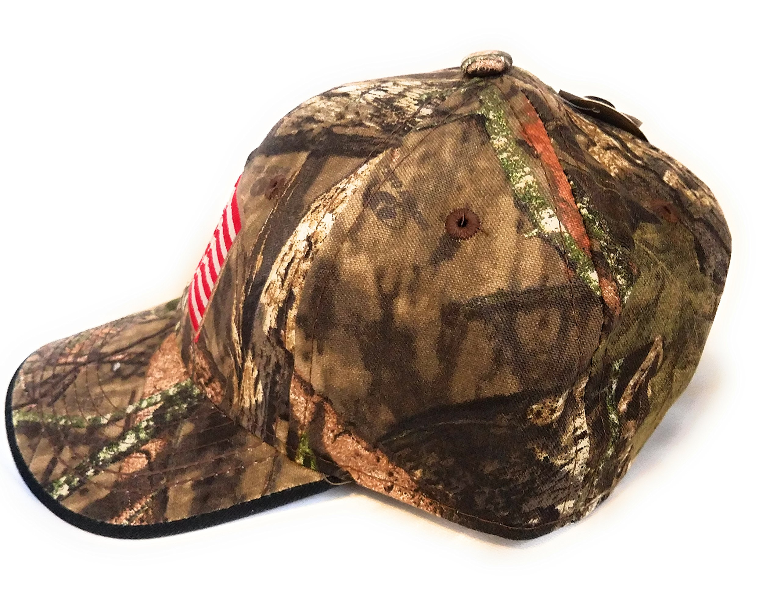Mossy Oak Camping, Hunting, Outdoors American Flag Camo Cap, Army Military Camo Cap Baseball, Camouflage Hat by Mossy Oak (Image #4)